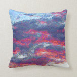 """Electric Fire Clouds""   (Clouds only) Throw Pillow"