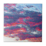 """Electric Fire Clouds""   (Clouds only) Ceramic Tile"
