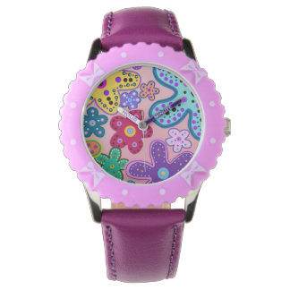 Electric Flower Power Wristwatch