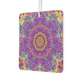 Electric Flower Purple Rainbow Kaleidoscope Art Air Freshener
