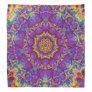 Electric Flower Purple Rainbow Kaleidoscope Art Bandana