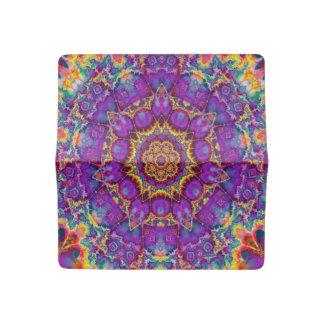 Electric Flower Purple Rainbow Kaleidoscope Art Checkbook Cover