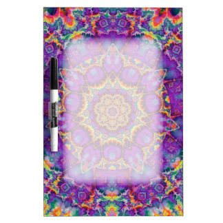 Electric Flower Purple Rainbow Kaleidoscope Art Dry-Erase Board