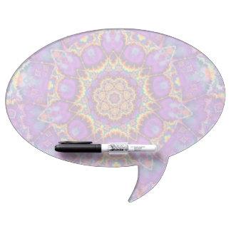 Electric Flower Purple Rainbow Kaleidoscope Art Dry-Erase Board