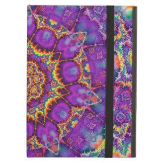 Electric Flower Purple Rainbow Kaleidoscope Art iPad Air Cases