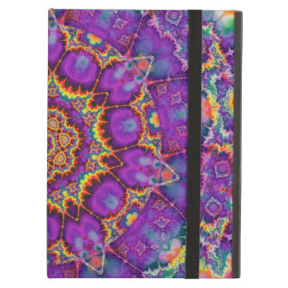 Electric Flower Purple Rainbow Kaleidoscope Art iPad Air Cases