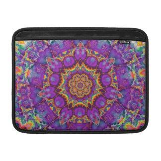 Electric Flower Purple Rainbow Kaleidoscope Art MacBook Air Sleeve