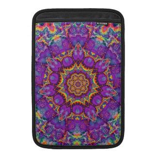 Electric Flower Purple Rainbow Kaleidoscope Art MacBook Sleeve