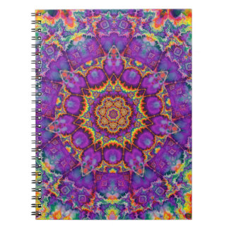 Electric Flower Purple Rainbow Kaleidoscope Art Notebook