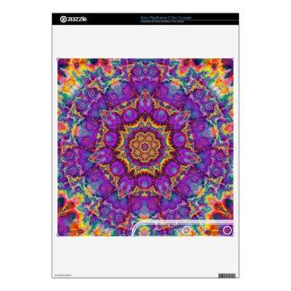 Electric Flower Purple Rainbow Kaleidoscope Art PS3 Slim Console Skin