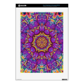 Electric Flower Purple Rainbow Kaleidoscope Art Skin For PS3