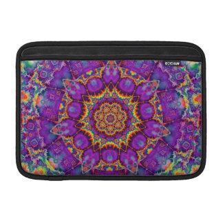 Electric Flower Purple Rainbow Kaleidoscope Art Sleeve For MacBook Air