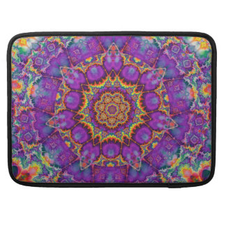 Electric Flower Purple Rainbow Kaleidoscope Art Sleeve For MacBook Pro