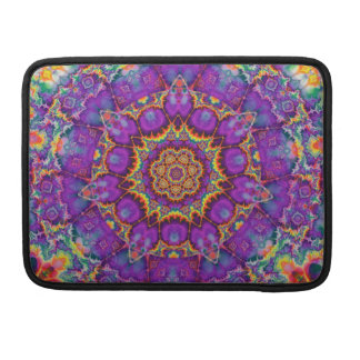 Electric Flower Purple Rainbow Kaleidoscope Art Sleeve For MacBooks