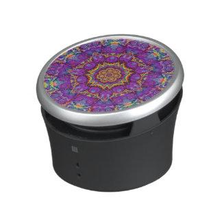Electric Flower Purple Rainbow Kaleidoscope Art Speaker