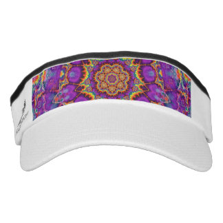 Electric Flower Purple Rainbow Kaleidoscope Art Visor