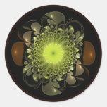 Electric Flower Round Sticker