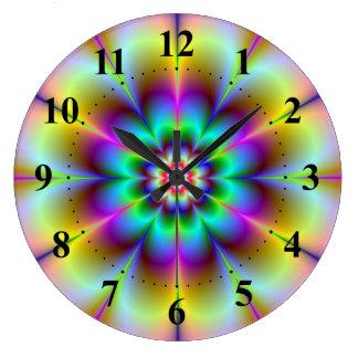 Electric Flower Wall Clock