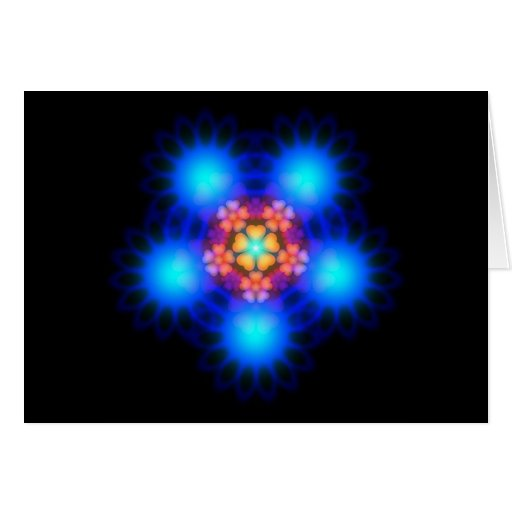 Electric Flowerbed Greeting Cards