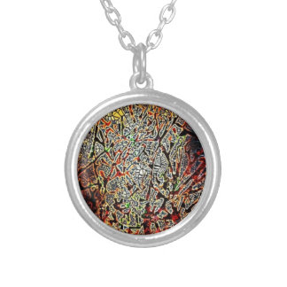 Electric Forest Round Pendant Necklace