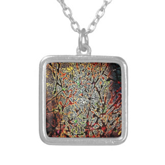 Electric Forest Silver Plated Necklace