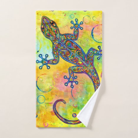 Electric Gecko Psychedelic Bath Towel Set