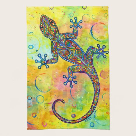 Electric Gecko Psychedelic Paisley Kitchen Towels