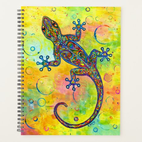 Electric Gecko Psychedelic Paisley Lizard Planner