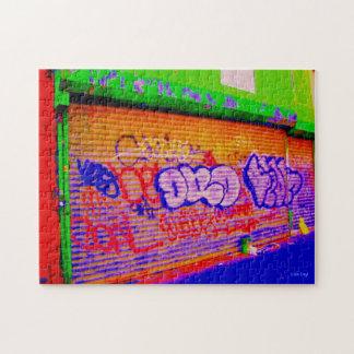 'Electric Graffiti Gates' Jigsaw Puzzle