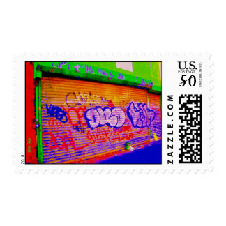 'Electric Graffiti Gates' Postage