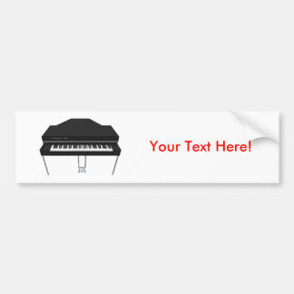 Electric Grand Piano: 3D Model: Bumper Sticker