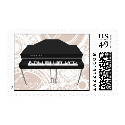 Electric Grand Piano: 3D Model: Postage Stamps