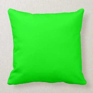 ELECTRIC GREEN (a solid electrifying color) ~ Throw Pillow