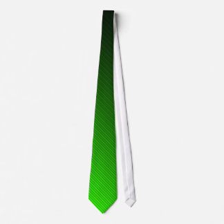 Electric Green Bevel-Stripped Neck Tie