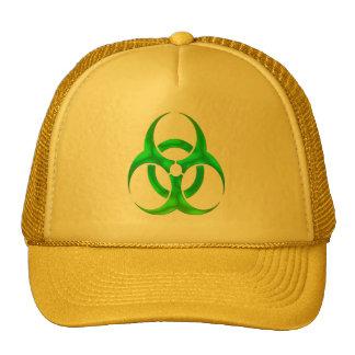 Electric Green Bio Hazard Trucker Hat