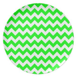 Electric Green Chevron Plate