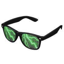 Electric Green Lightning Bolt Retro Sunglasses