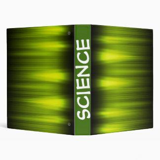 Electric Green Pulse Design Vinyl Binders
