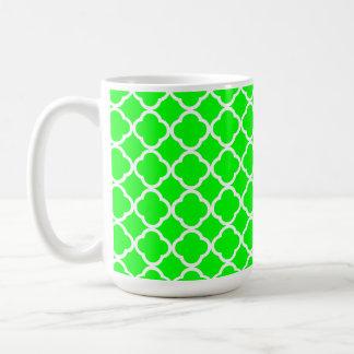 Electric Green Quatrefoil Coffee Mug