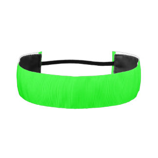 ELECTRIC GREEN (solid color background) ~.jpg Athletic Headbands