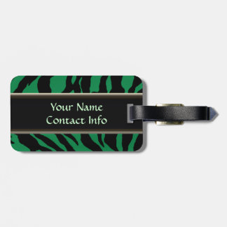 Electric Green Tiger Brigade Tag For Luggage