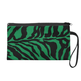 Electric Green Tiger Brigade Wristlet