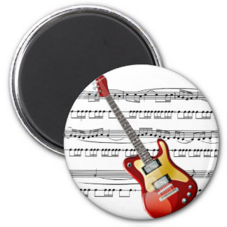 Electric Guitar 02 w/Sheet Music Background Magnet