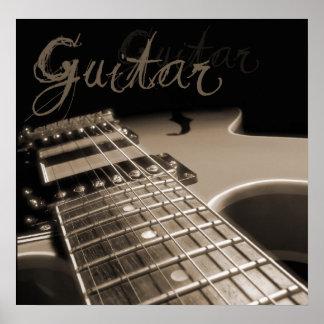 Electric Guitar 2 - Brown Poster
