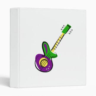 Electric Guitar 3 Ring Binder