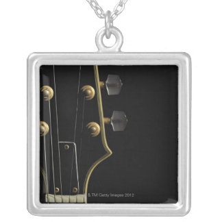 Electric Guitar 5 Silver Plated Necklace
