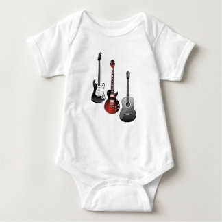 electric guitar, acoustic guitar baby bodysuit