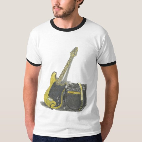 Electric Guitar and amp art t-shirt