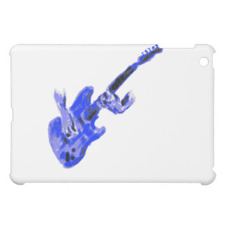 Electric Guitar and hands, blue version iPad Mini Covers
