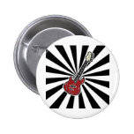 Electric guitar and psychedelic background pinback buttons